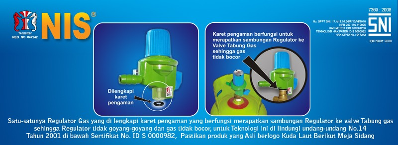 HP regulator dengan seal anti bocor